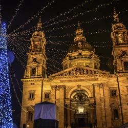 Christmas Market at St Stephen's Basilica, Budapest