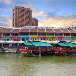 Singapore Riverside: Clarke Quay, Robertson Quay, Boat Quay