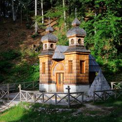 Russian Chapel on the Vršič pass