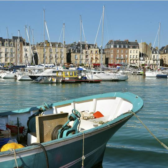 De haven van Dieppe