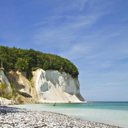 The chalk cliffs of Rügen