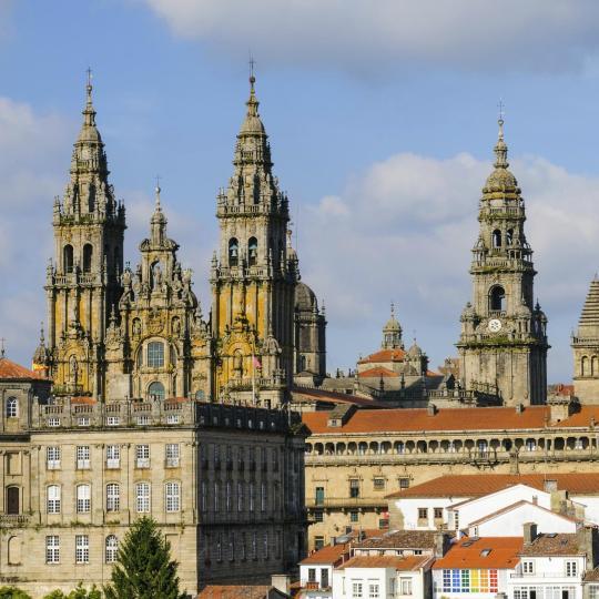 Il centro storico di Santiago de Compostela