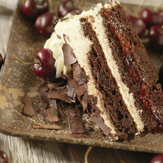 La deliziosa torta della Foresta Nera al Café Schaefer
