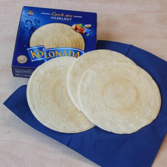 Traditional Oplatky spa wafers