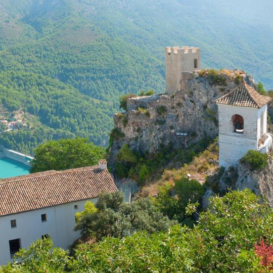 Valle de Guadalest y el castillo colgante