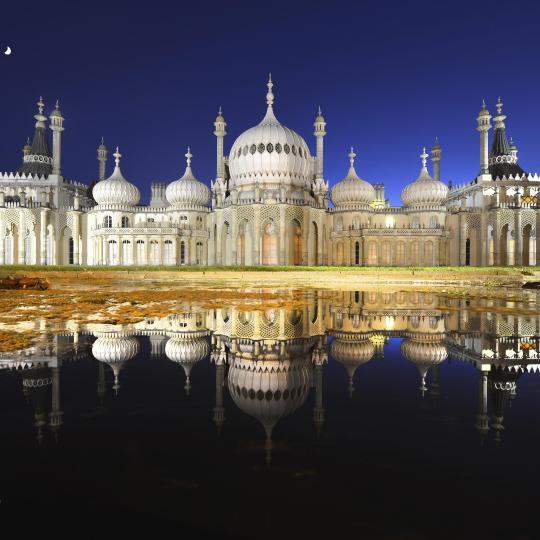 The opulent Royal Pavilion