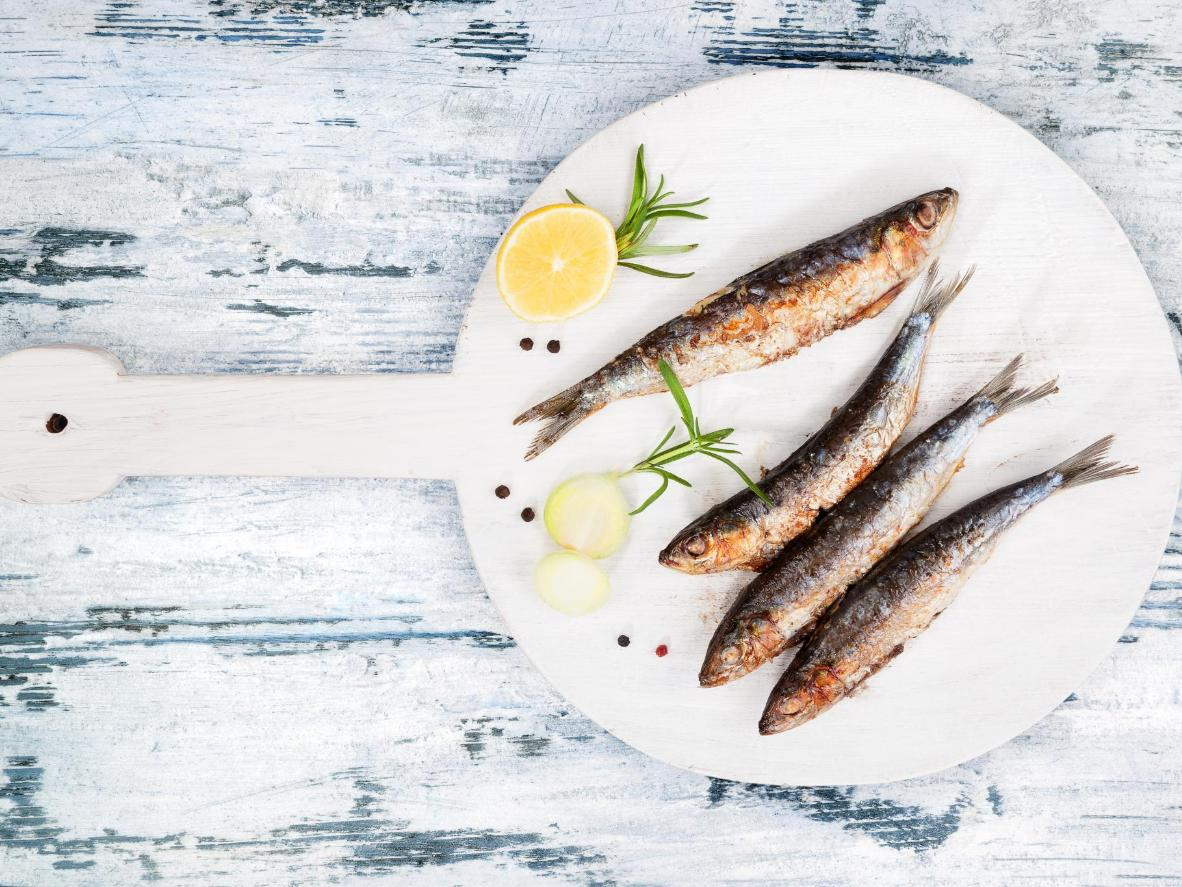 Sardines browned to perfection – a festival favourite