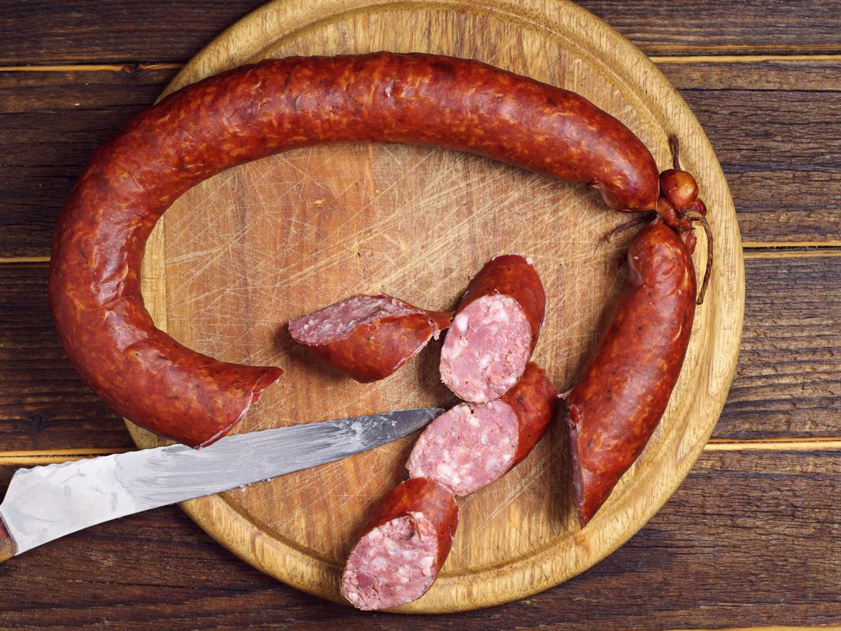 Cajun sausage with German origins