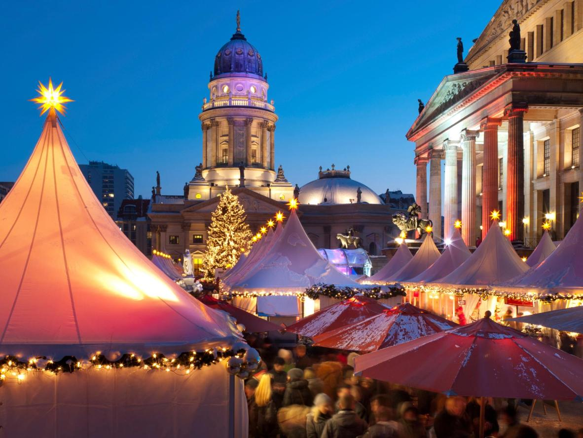 Warm up with a slice of stollen cake and a mug of mulled wine at the Berlin Christmas Markets