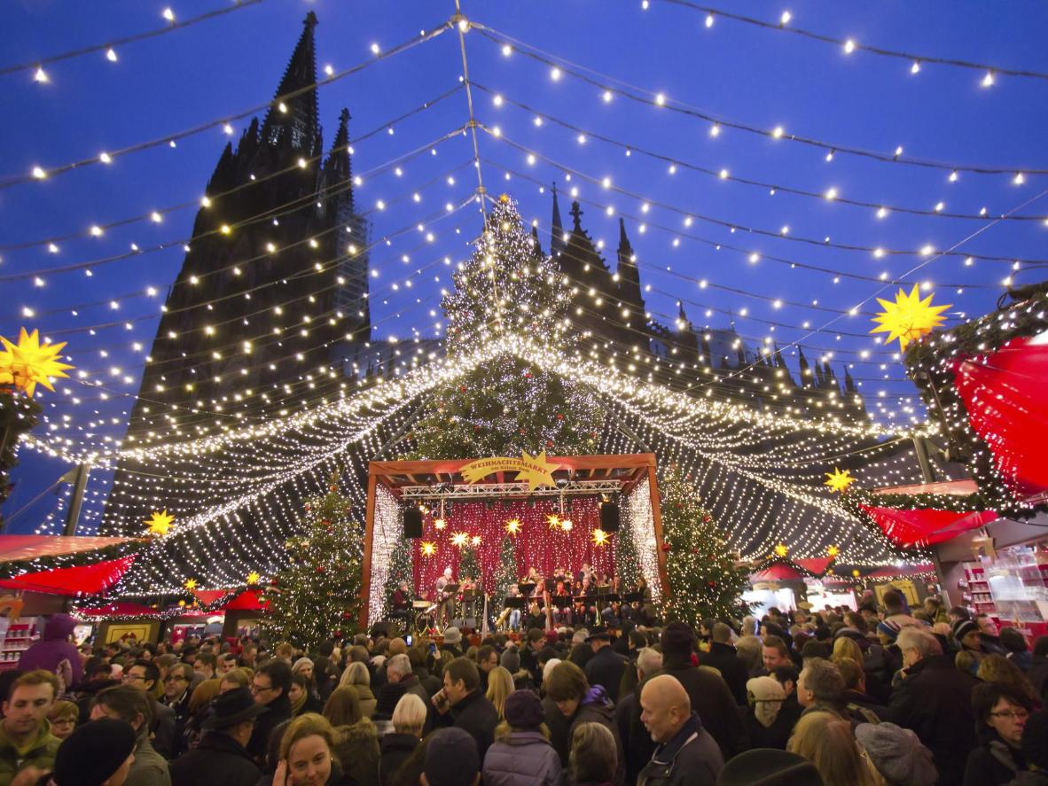Different themed markets pop up across Cologne during the Christmas season