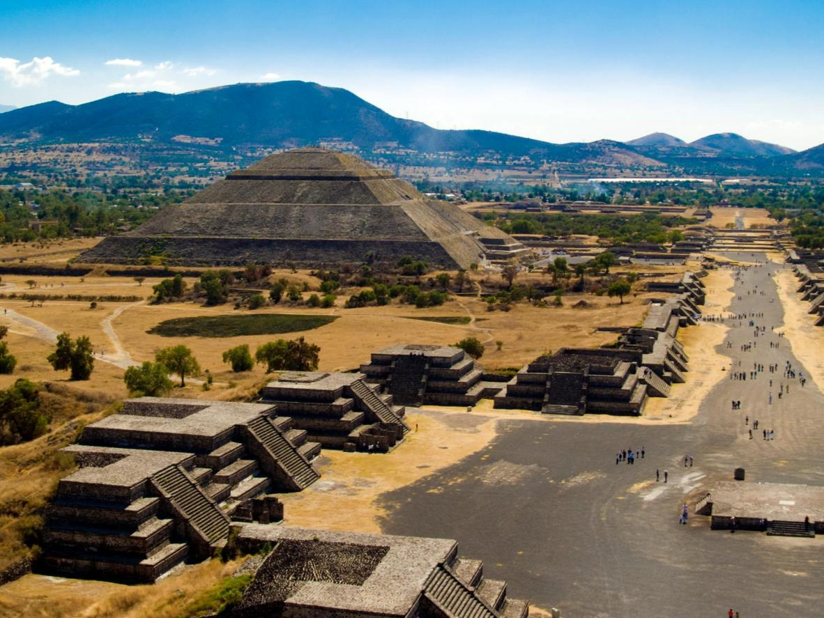 Visitors who hike to the top of the Teotihuacán Pyramid of the Sun supposedly receive energising qualities