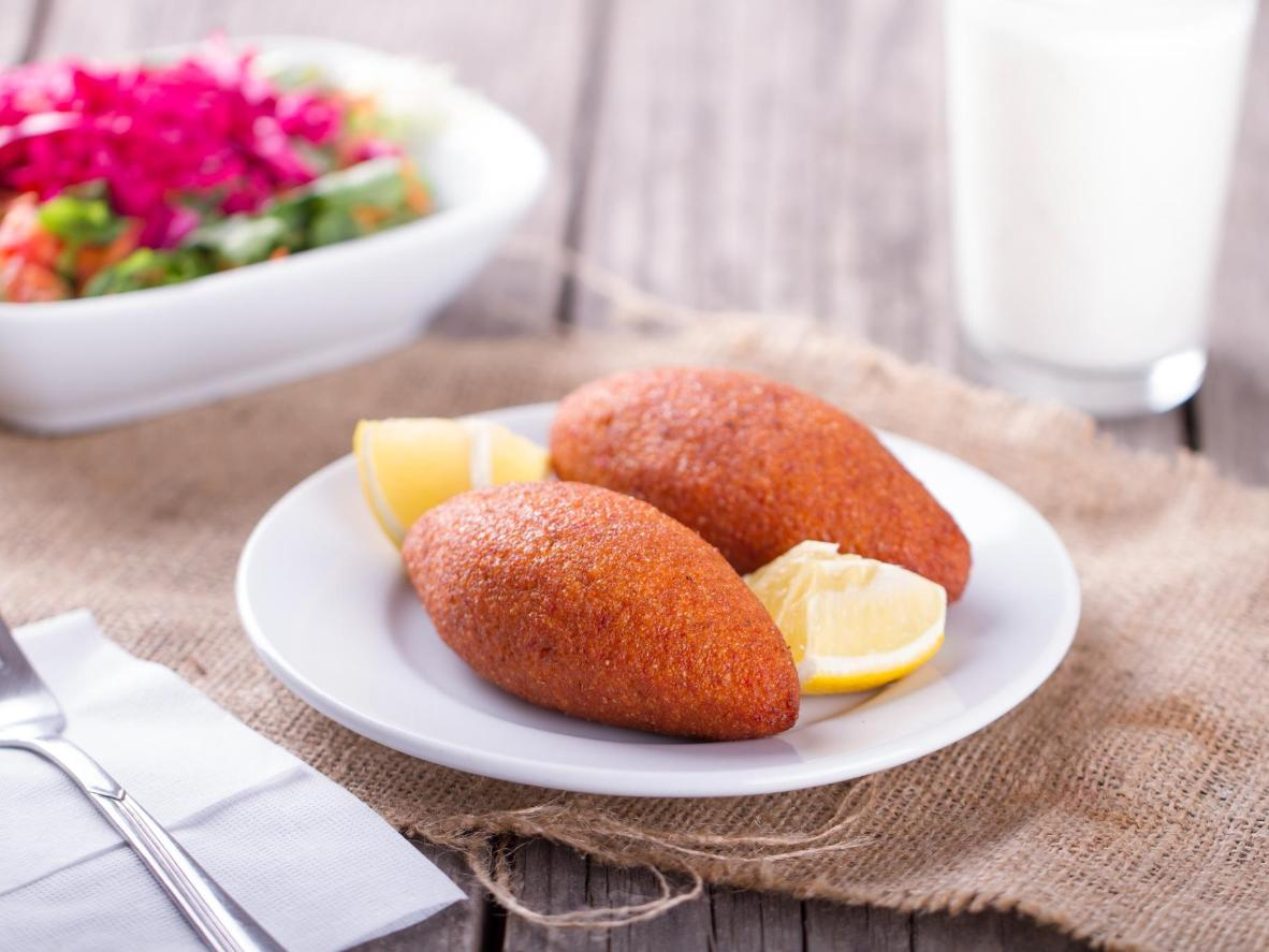 A spicy croquette snack found in kebab shops