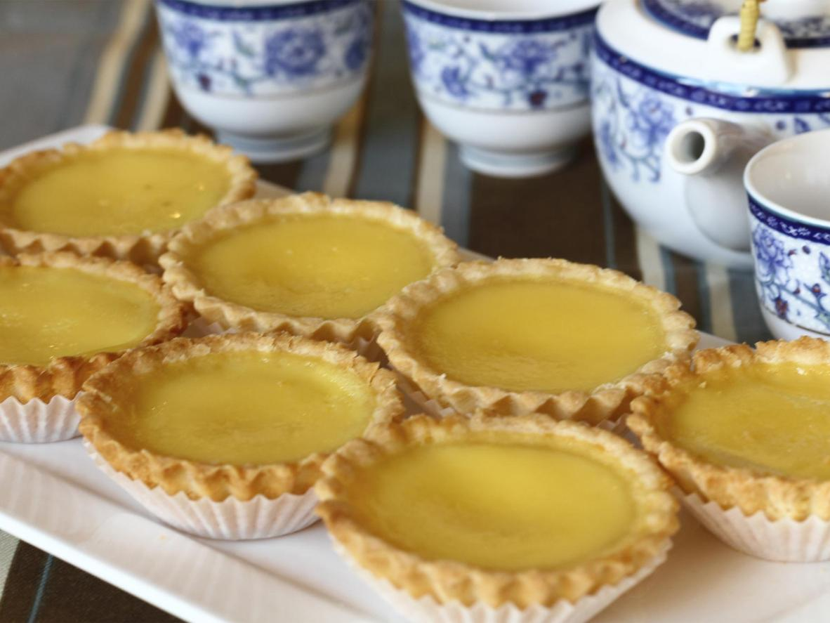Sweet and smooth, a tasty tart with European flavour
