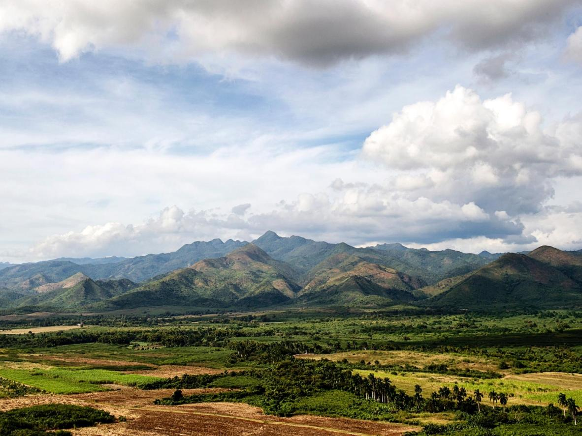 The Sierra Maestra mountain range was stronghold of Fidel Castro and Che Guevara's rebel army during the Cuban Revolution