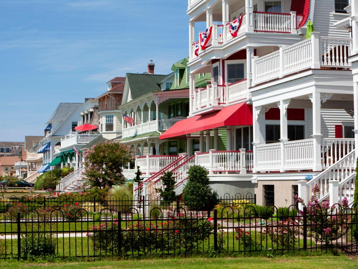 Victorian homes in Cape May