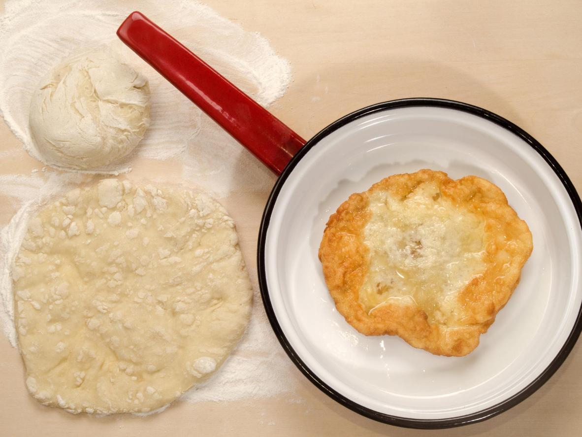 An indulgent street-food flatbread