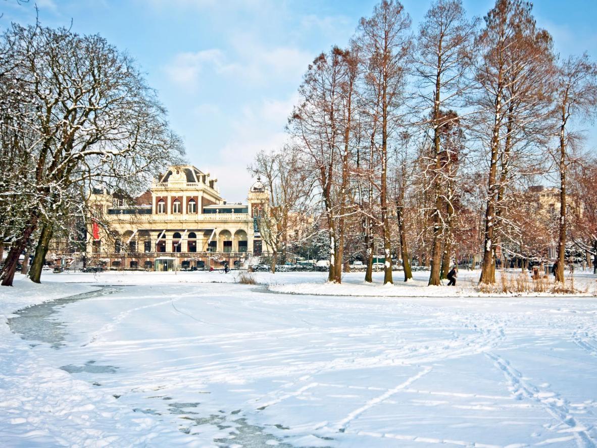 A rather snowy Vondelpark