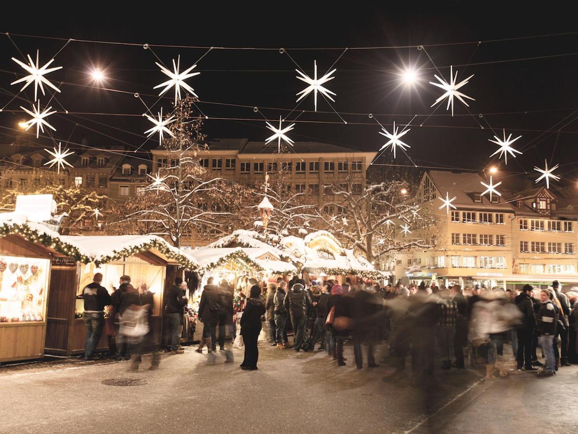 Admire Switzerland's tallest Christmas tree in St Gallen