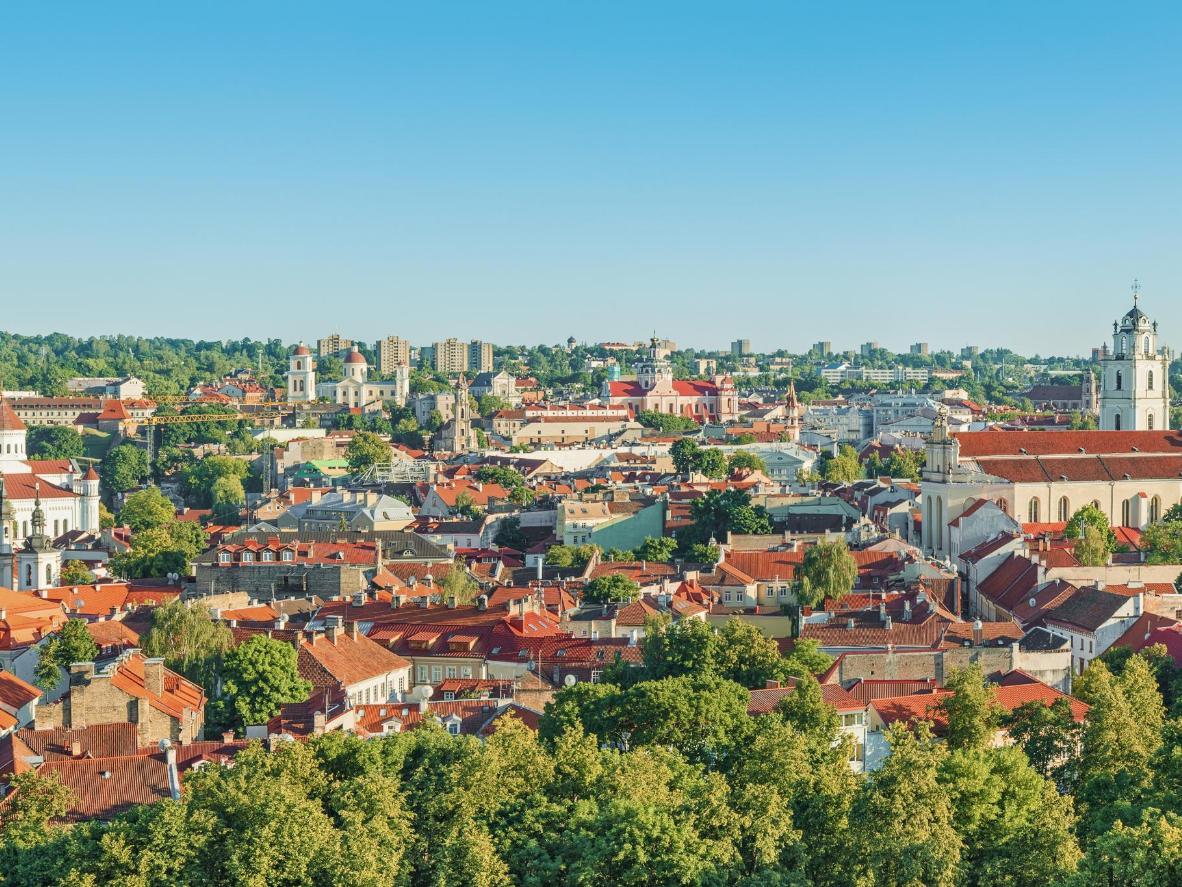 The leafy city of Vilnius