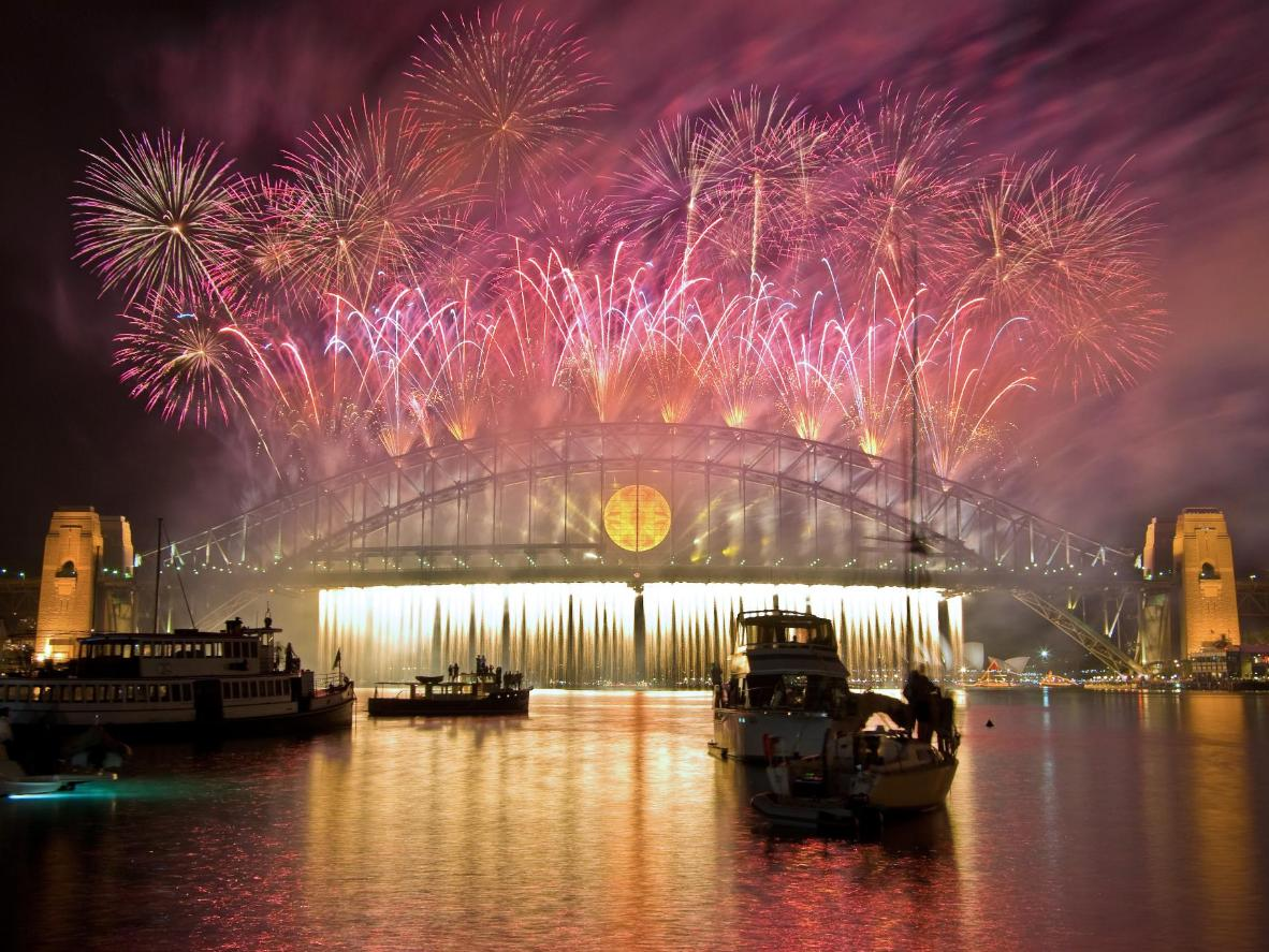 Get your spine tingling with excitement for the New Year with fireworks over Sydney Harbour Bridge