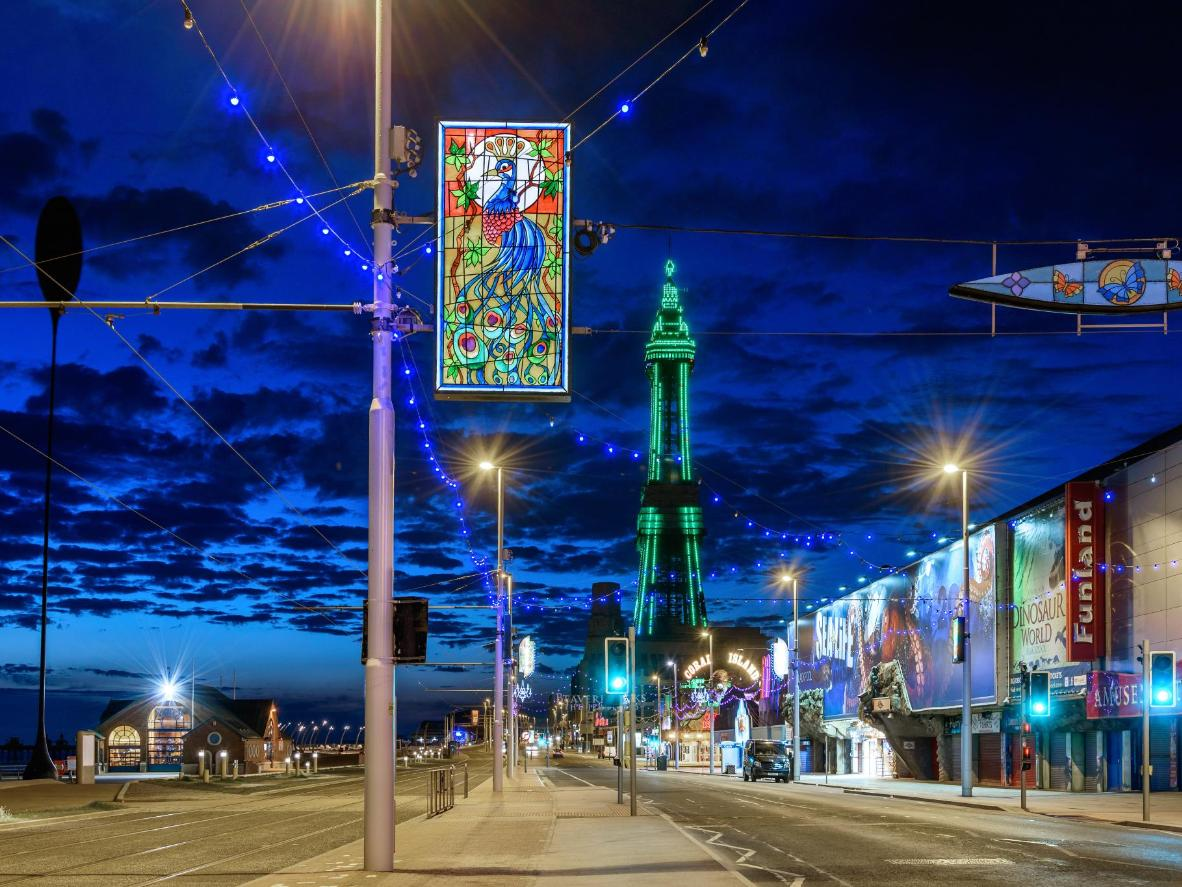 Lap up the entertainment and family-themed shows in Blackpool
