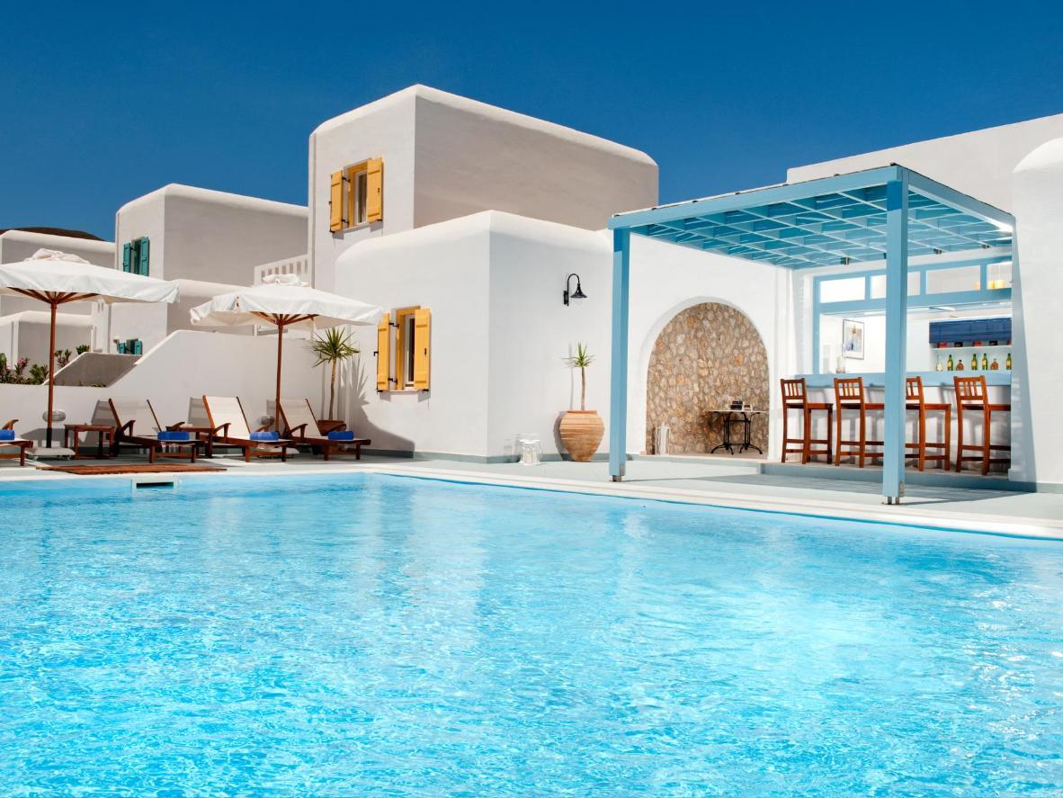 The impressive pool at Mouras Resort