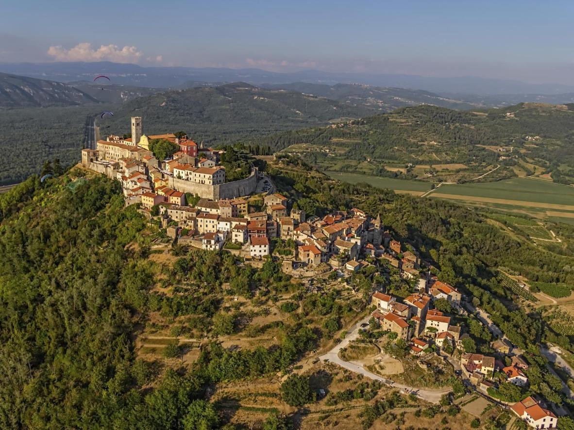 The hilltop village of Motovun, Croatia