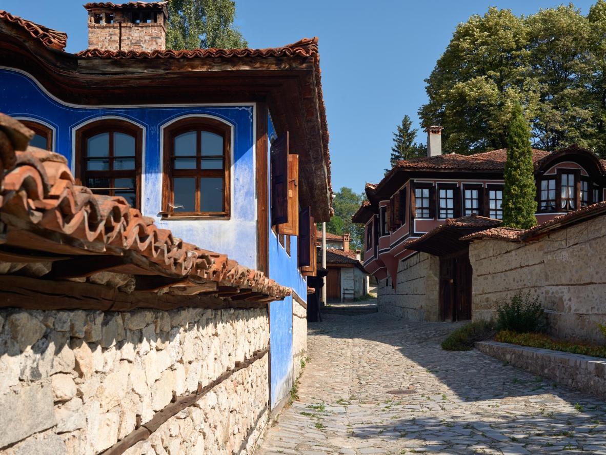 Traditional Bulgarian architecture in Koprivshtitsa