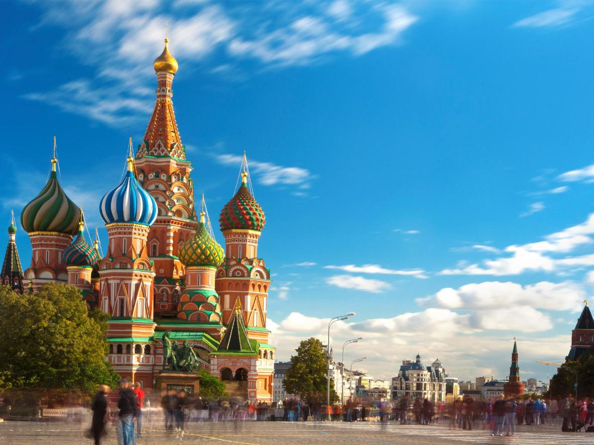 Saint Basil's Cathedral, a church in the Red Square in Moscow