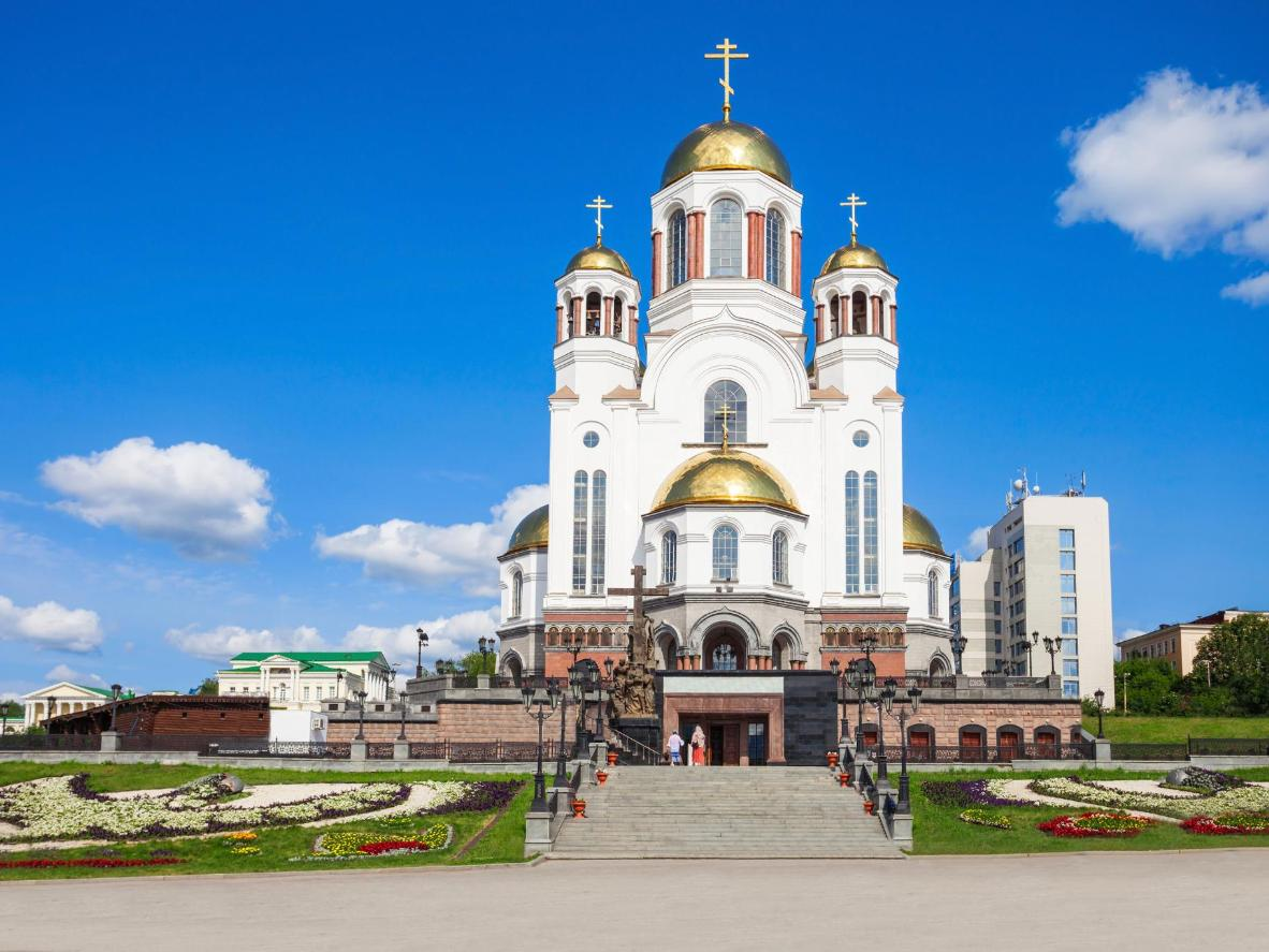Yekaterinburg is famous for its churches and busy Russian bazaar
