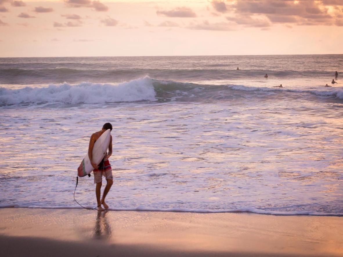 Las Peñitas is a popular spot with surfers