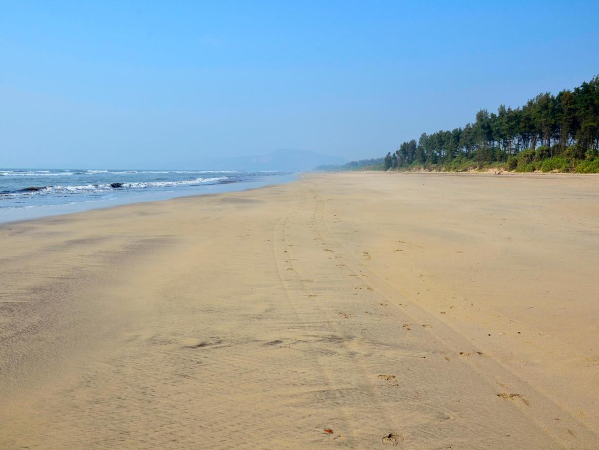 Diveāgar's beach remains completely undeveloped