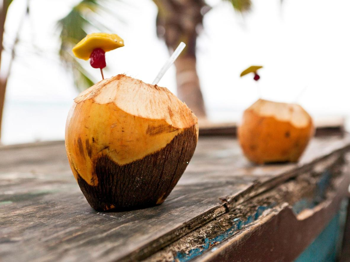 A refreshing coconut water direct from the source