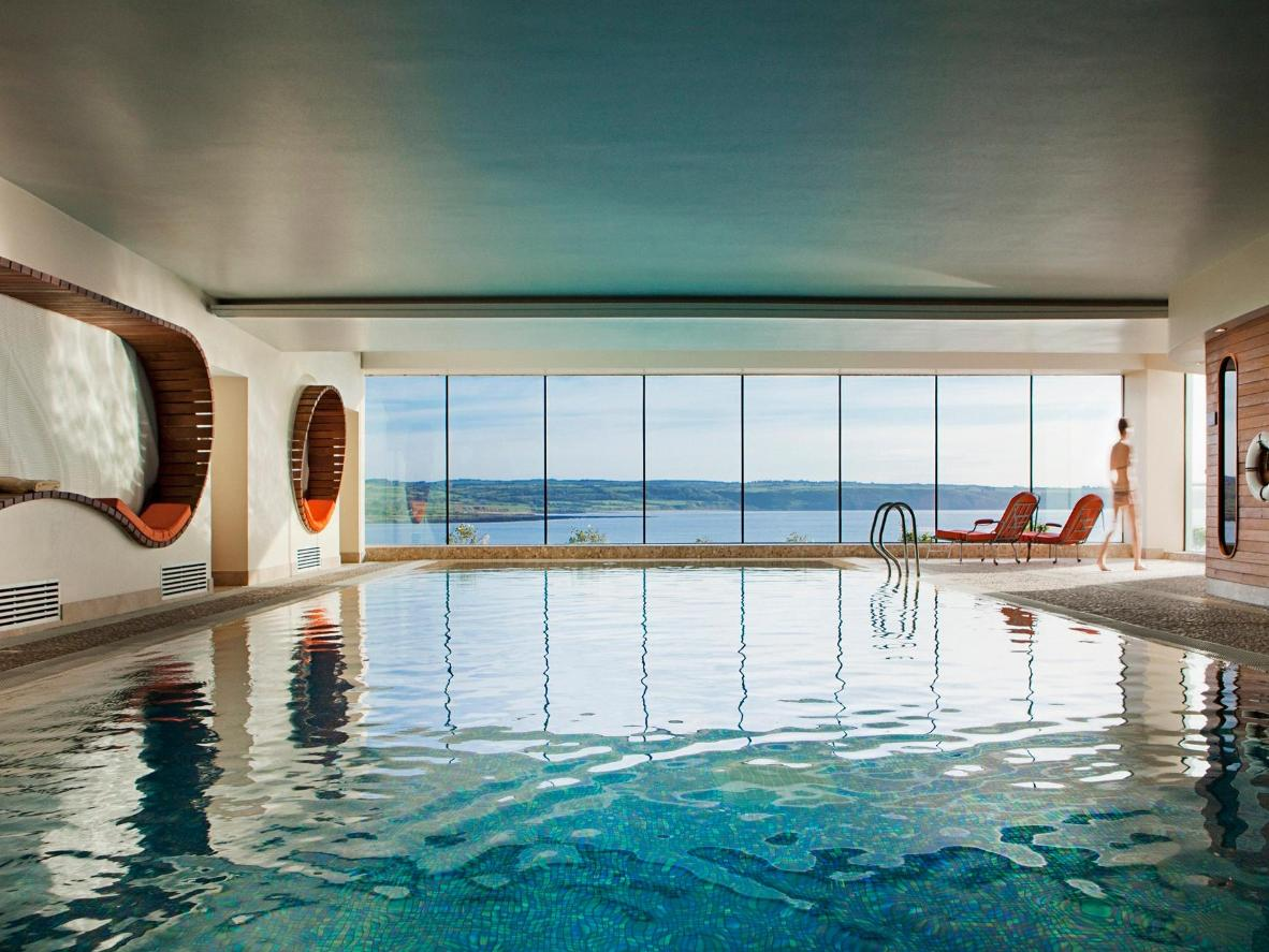 The large indoor pool is ideal for a morning swim