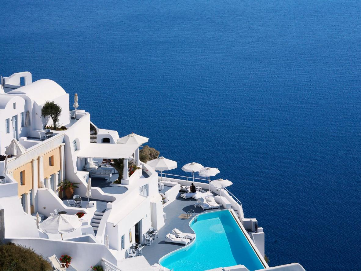 The Aegean is an unforgettable backdrop to your Santorini stay
