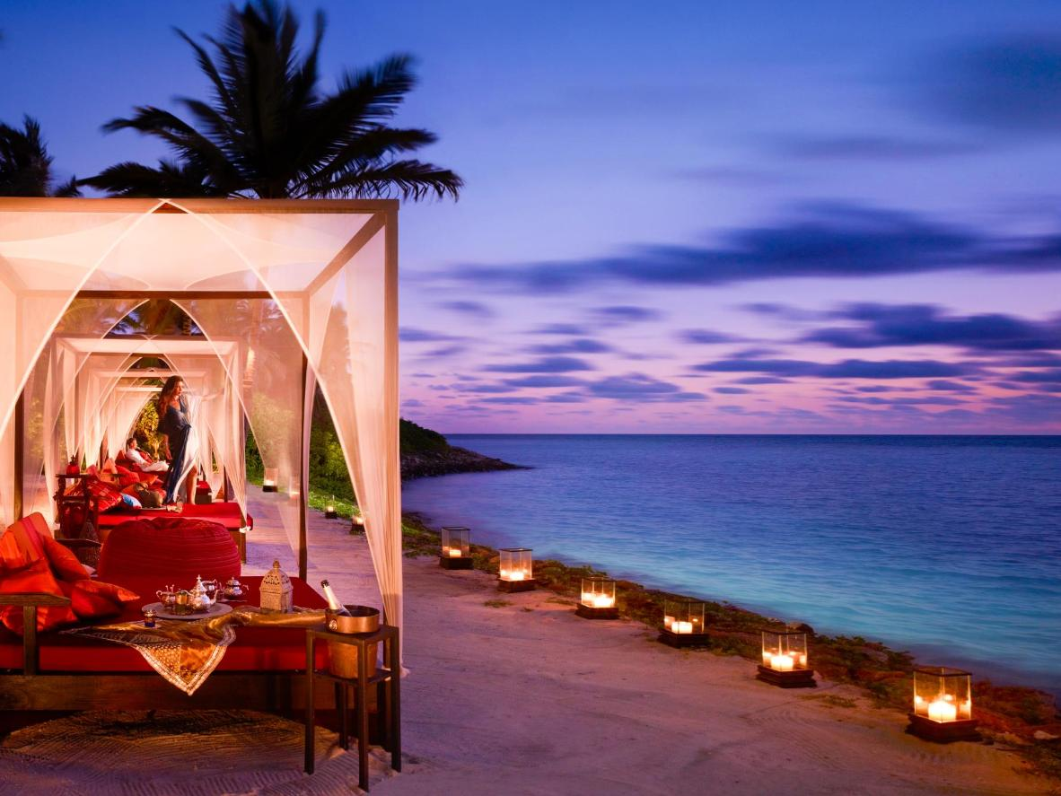 Watch the sunset from your private bed