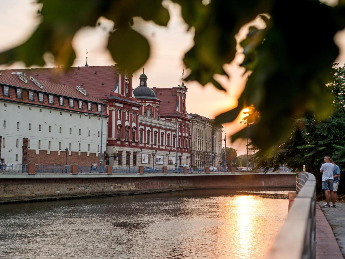 A sunny day in Wroclaw's city centre