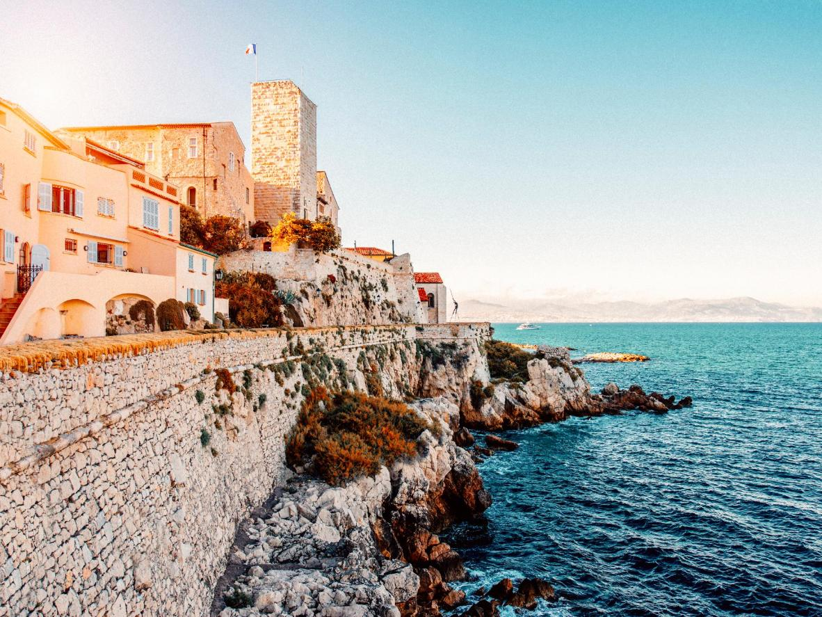 The old coastal village and fortification of Antibes, France