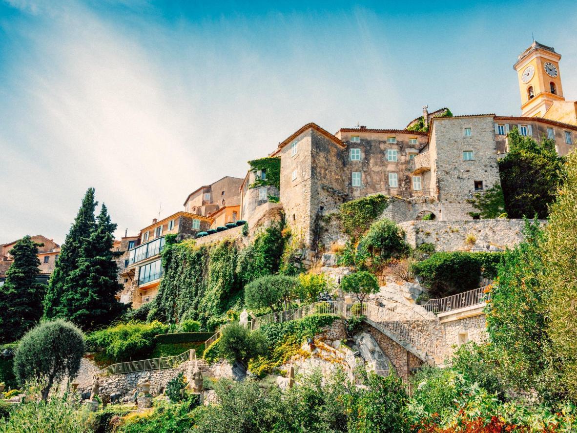 The medieval village of Eze, France, built on a hillside