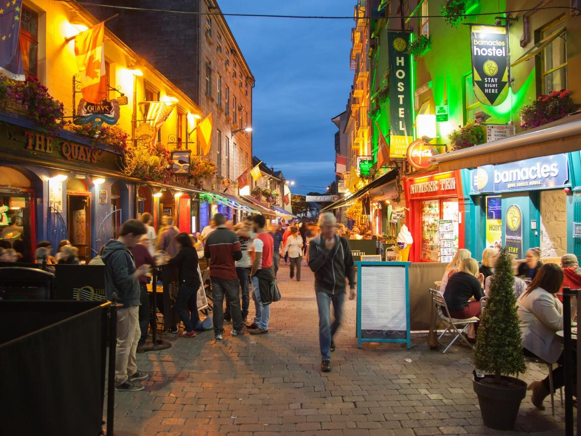 The well-known Quays pub, Galway, Ireland