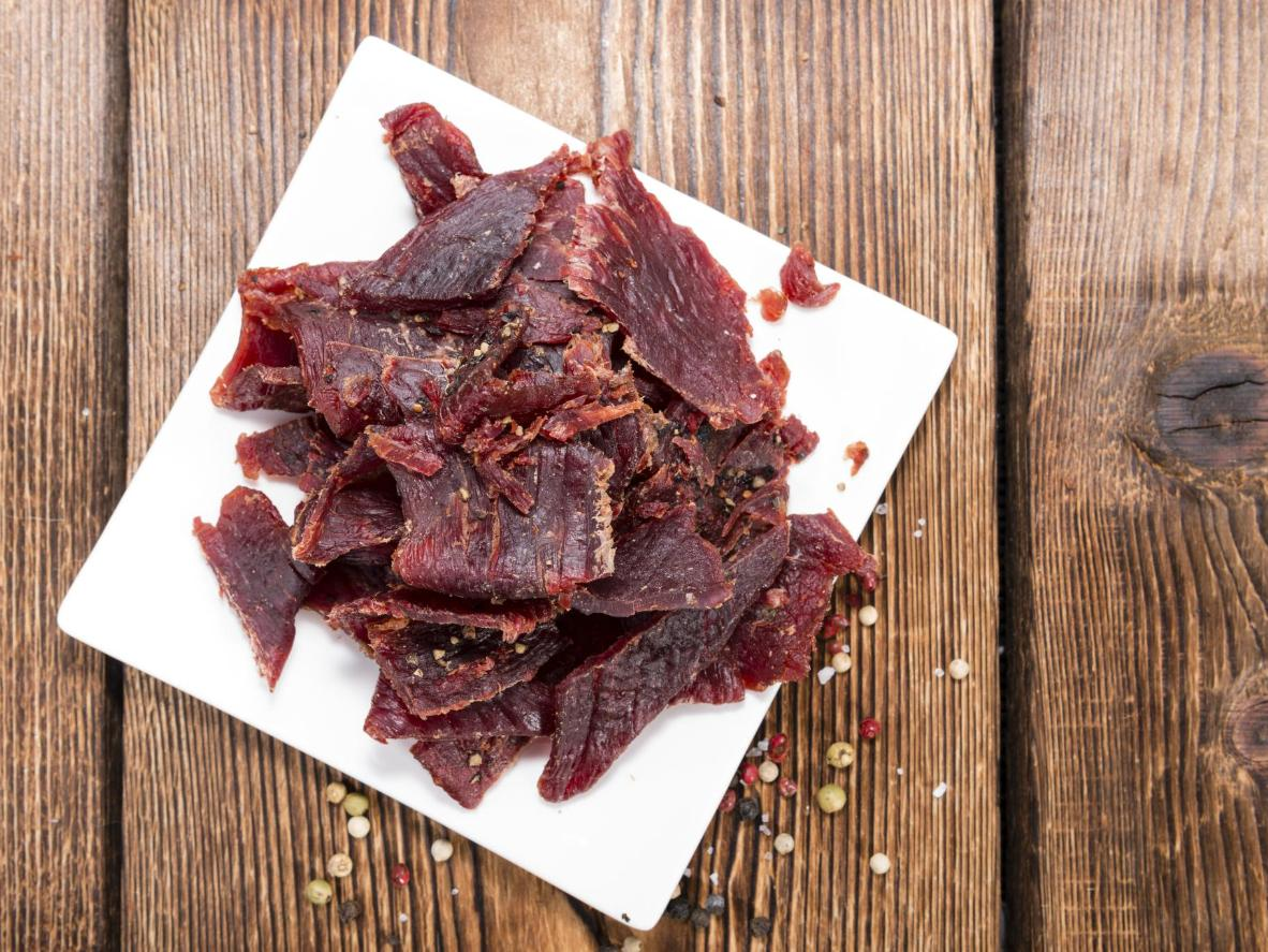 Chunky strips of delicious dried meat