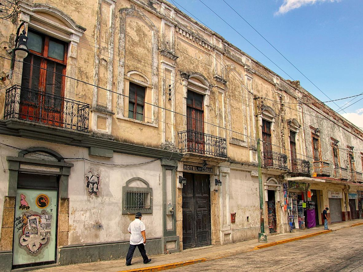 The old streets of Mérida