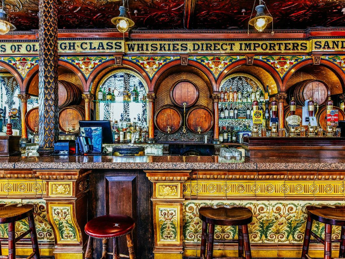 Belfast's charming pubs brims with character