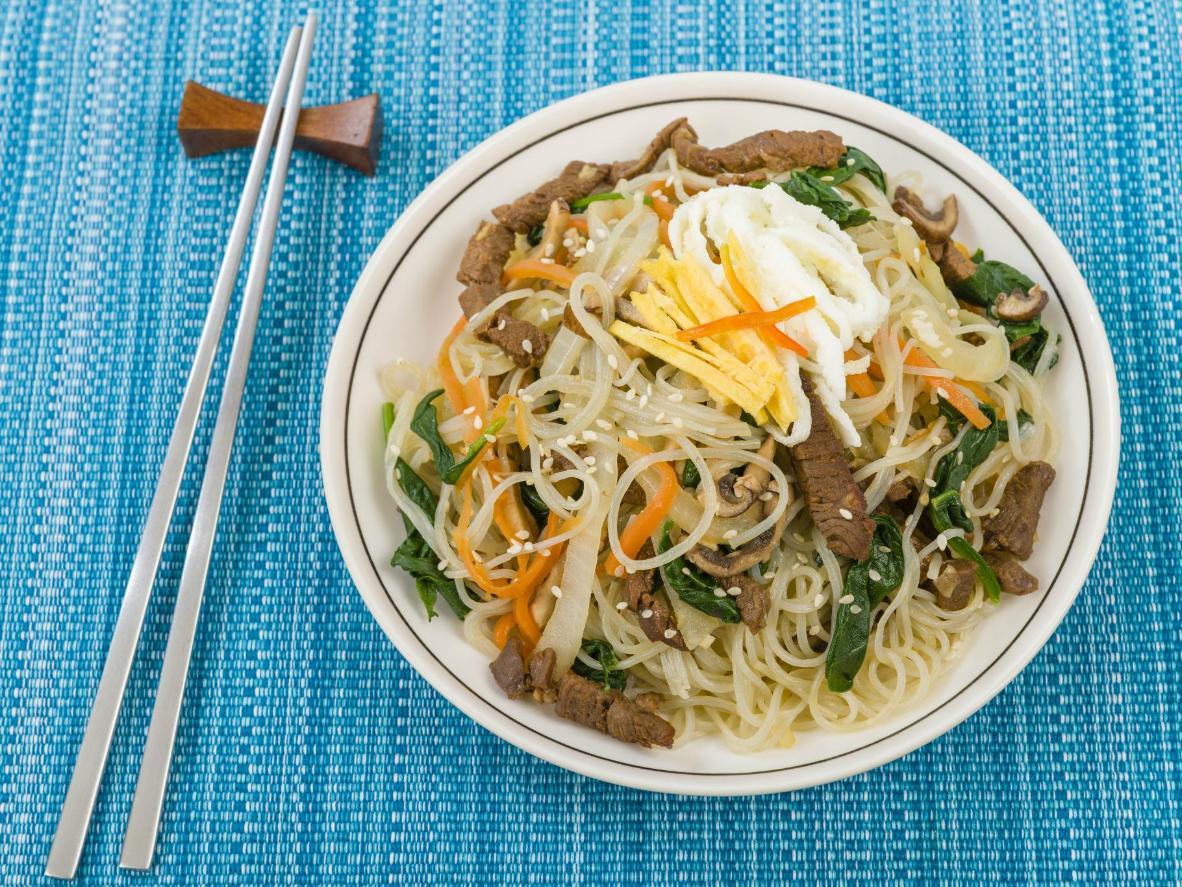 A sweet-potato noodle combination that's uniquely Korean