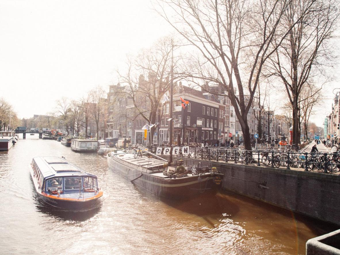 The Houseboat Museum, docked in the Amsterdam Canal Belt