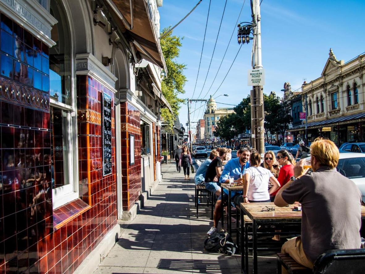 Enjoy brunch al fresco in bustling South Yarra at Ned's