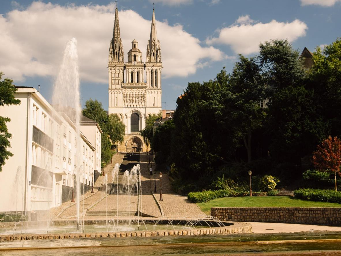 The stunning Angers Cathedral