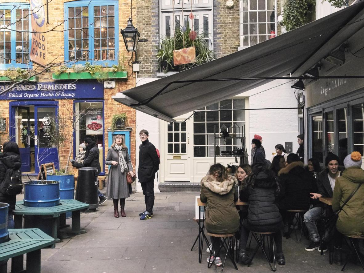 An oasis in the busy city centre, Neal's Yard is a colourful collective of boutiques and healthy cafés tucked into a quaint little courtyard.