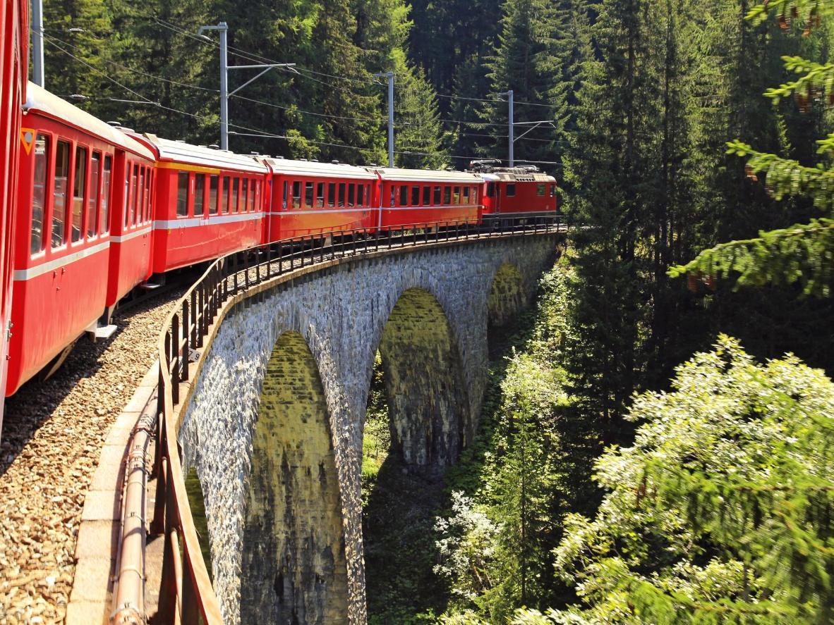The Inlandsbanan trainline in Sweden
