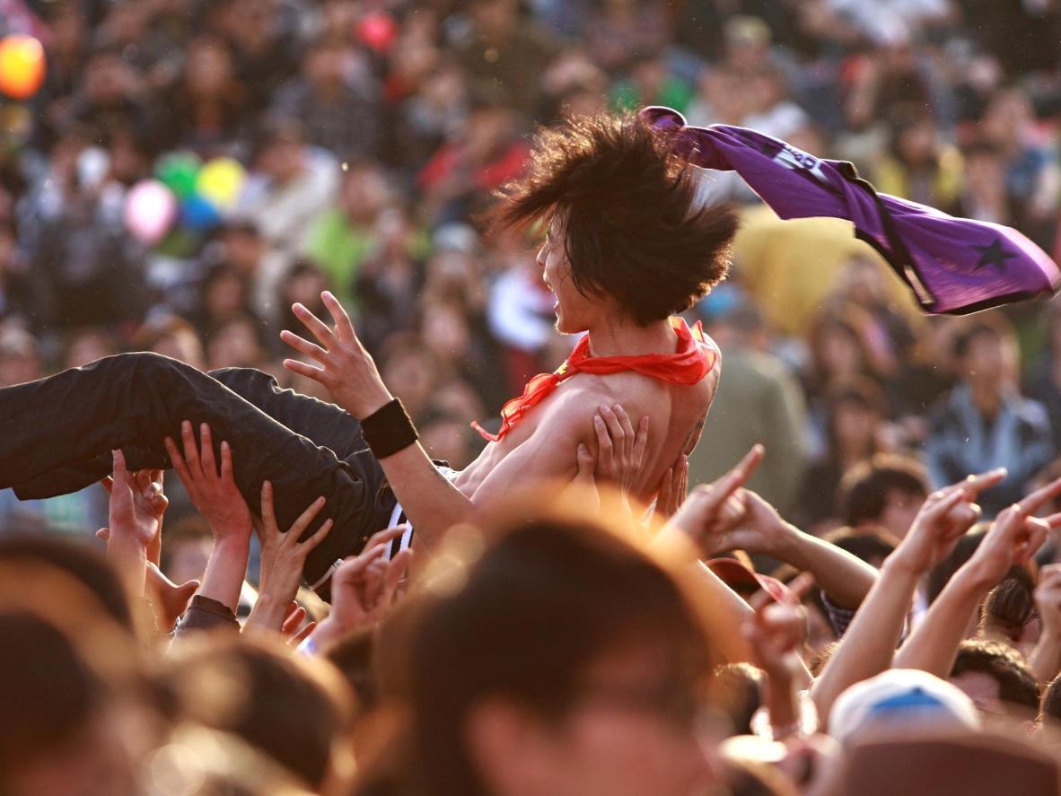 The three-day Strawberry Fields Festival, Australia